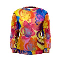 Pop Art Roses Women s Sweatshirt
