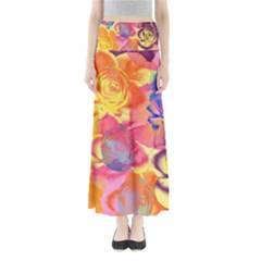 Pop Art Roses Women s Maxi Skirt