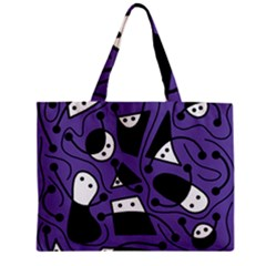 Playful Abstract Art   Purple Mini Tote Bag by Valentinaart