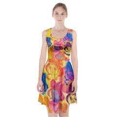 Pop Art Roses Racerback Midi Dress