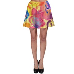 Pop Art Roses Skater Skirt