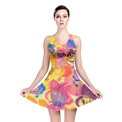 Pop Art Roses Reversible Skater Dress