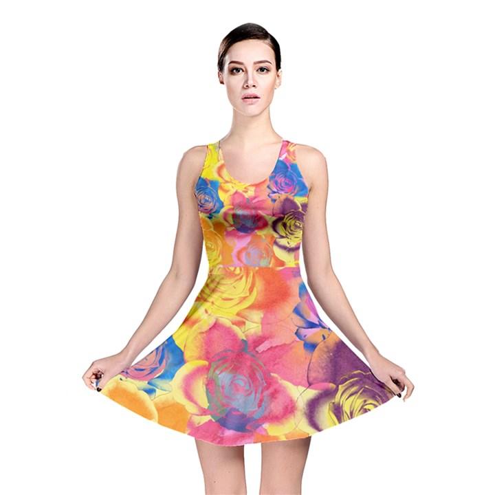 Pop Art Roses Reversible Skater Dress