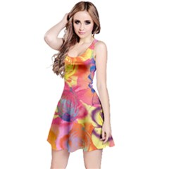 Pop Art Roses Reversible Sleeveless Dress