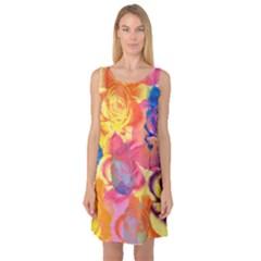 Pop Art Roses Sleeveless Satin Nightdress by DanaeStudio