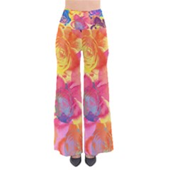 Pop Art Roses Women s Chic Palazzo Pants