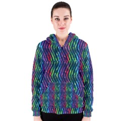 Colorful Lines Women s Zipper Hoodie