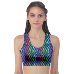 Colorful Lines Sports Bra by DanaeStudio
