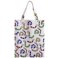 Colorful Worms  Zipper Classic Tote Bag by Valentinaart
