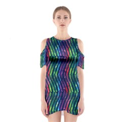 Colorful Lines Women s Cutout Shoulder One Piece by DanaeStudio