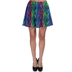 Colorful Lines Skater Skirt by DanaeStudio