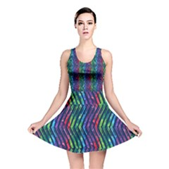 Colorful Lines Reversible Skater Dress by DanaeStudio
