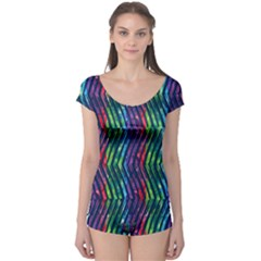 Colorful Lines Boyleg Leotard