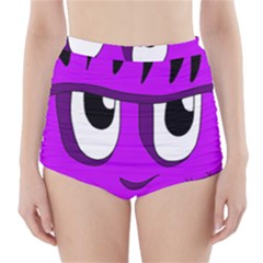 Halloween   Purple Frankenstein High Waisted Bikini Bottoms by Valentinaart