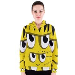 Halloween Frankenstein   Yellow Women s Zipper Hoodie by Valentinaart
