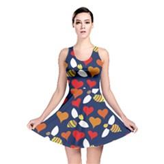 Honey Bees In Love Reversible Skater Dress by BubbSnugg