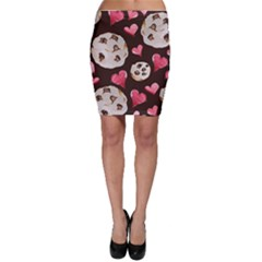 Chocolate Chip Cookies Bodycon Skirt by BubbSnugg