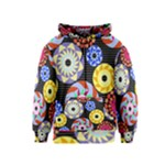 Colorful Retro Circular Pattern Kids  Zipper Hoodie
