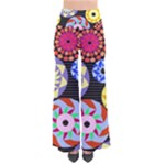 Colorful Retro Circular Pattern Women s Chic Palazzo Pants
