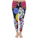 Colorful Retro Circular Pattern Winter Leggings