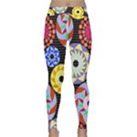 Colorful Retro Circular Pattern Yoga Leggings