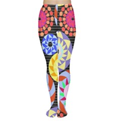 Colorful Retro Circular Pattern Tights