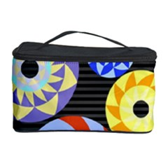 Colorful Retro Circular Pattern Cosmetic Storage Case