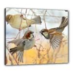 Birds Canvas 24  x 20  (Framed)