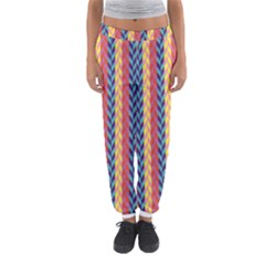 Colorful Chevron Retro Pattern Women s Jogger Sweatpants by DanaeStudio