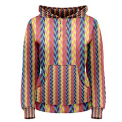 Colorful Chevron Retro Pattern Women s Pullover Hoodie