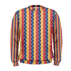 Colorful Chevron Retro Pattern Men s Sweatshirt by DanaeStudio