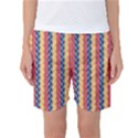 Colorful Chevron Retro Pattern Women s Basketball Shorts View1