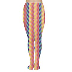 Colorful Chevron Retro Pattern Tights by DanaeStudio