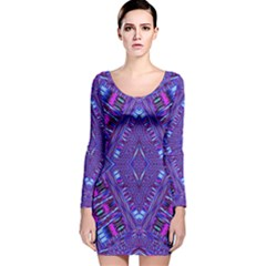 POWER PLEIGHT Long Sleeve Velvet Bodycon Dress by MRTACPANS