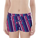 Purple and Pink Retro Geometric Pattern Boyleg Bikini Wrap Bottoms View1