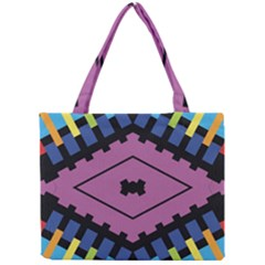 Starette Oleana Purple Blue Yellow Mini Tote Bag by CircusValleyMall
