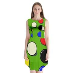 Billiard  Sleeveless Chiffon Dress   by Valentinaart