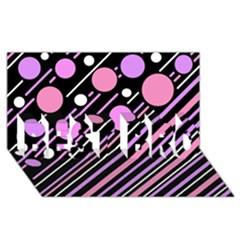 Purple Transformation Best Bro 3d Greeting Card (8x4) by Valentinaart