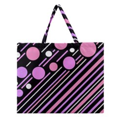 Purple Transformation Zipper Large Tote Bag by Valentinaart