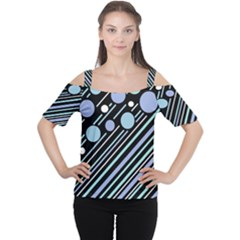 Blue Transformation Women s Cutout Shoulder Tee by Valentinaart