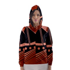 Boat   Red Hooded Wind Breaker (women) by Valentinaart