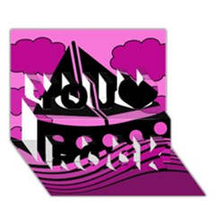 Boat   Magenta You Rock 3d Greeting Card (7x5) by Valentinaart