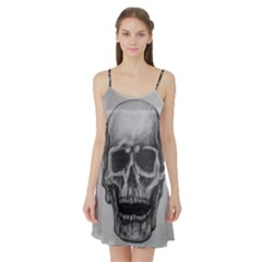 Skull Satin Night Slip by ArtByThree