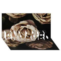 Roses Flowers Engaged 3d Greeting Card (8x4) by vanessagf