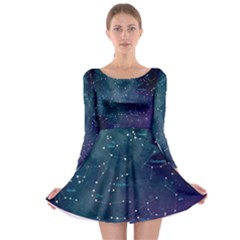 Constellations Long Sleeve Skater Dress
