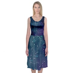 Constellations Midi Sleeveless Dress