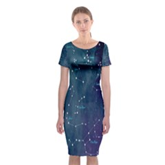 Constellations Classic Short Sleeve Midi Dress