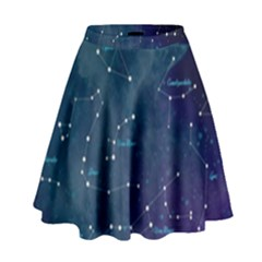 Constellations High Waist Skirt