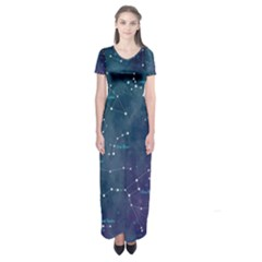 Constellations Short Sleeve Maxi Dress