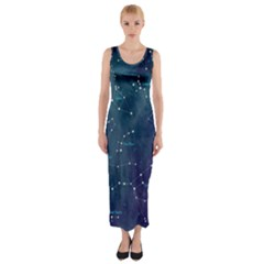 Constellations Fitted Maxi Dress